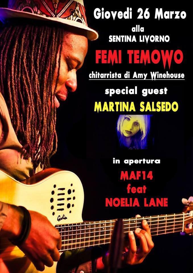 Chitarrista di Amy Winehouse a Livorno
