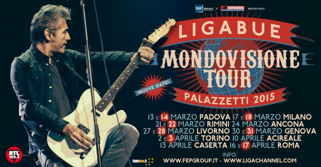 Ligabue mondovisione tour 2015 Livorno