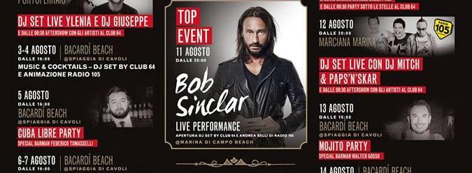 Bob Sinclair Elba Livorno