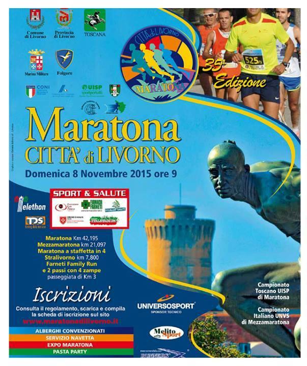 Torna la Maratona di Livorno! Domenica 8 Novembre